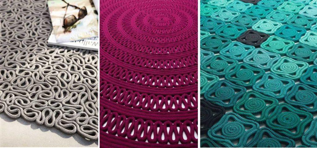 Из шнуров можно сделать удивительные ковры