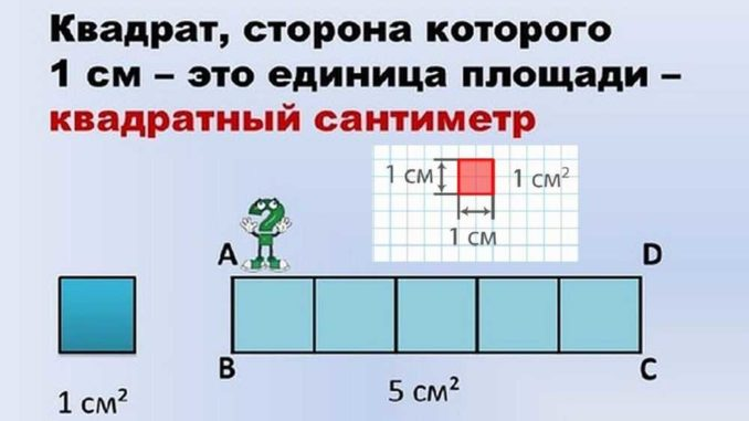 Что такое один квадратный сантиметр