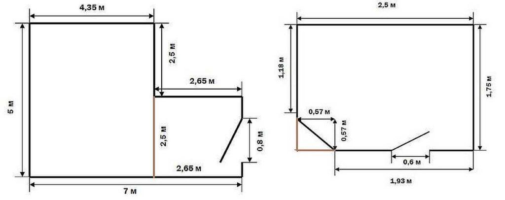 Как найти площадь комнаты сложной формы