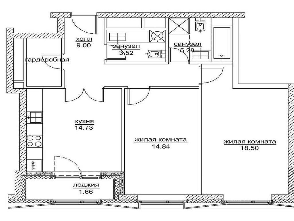 Для плана лучше рассчитать метраж каждой комнаты