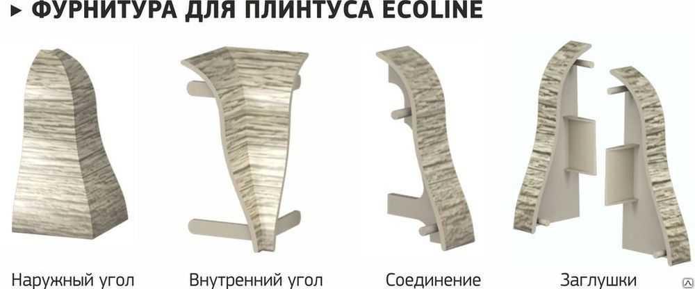 Фурнитура для оформления углов и стыков ПВХ плинтусов