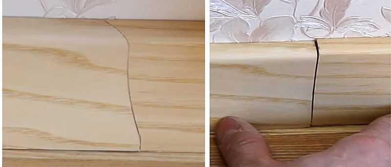 Как срастить два куска деревянного (МДФ) плинтуса