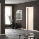 Серый пол и коричневые стены. Если не знаете как выбрать цвет пола, чтобы интерьер был солидным, попробуйте этот вариант