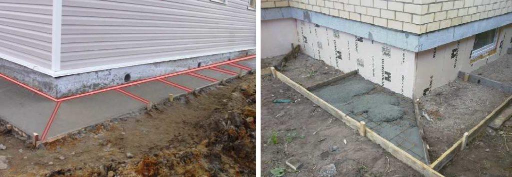 Для отмостки вокруг дома или для террасы, деформационный шов - это планки (деревянные или специальные), уложенные в ключевых точках