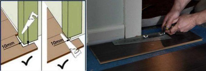 Как красиво оформить стык с дверной коробкой