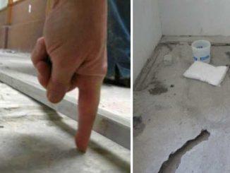 Чтобы решить чем заделать неровности в бетонном полу надо узнать толщину выравнивающего слоя