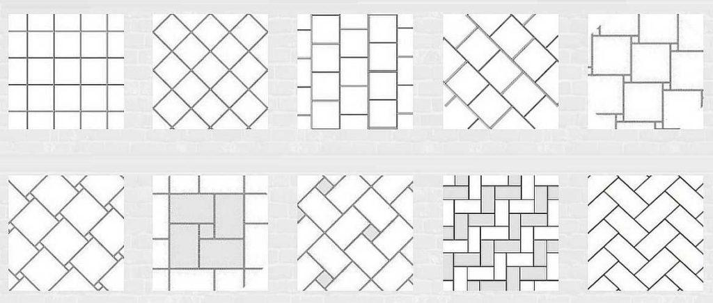 Основные рисунки укладки плитки на пол