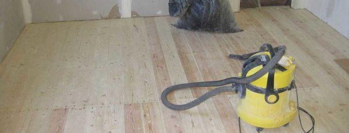 Это деревянный пол после сплачивания досок и заделки щелей
