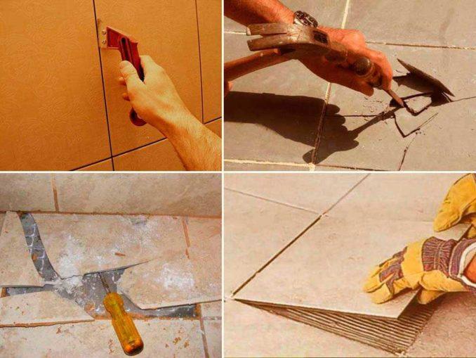 Демонтаж плитки - дело пыльное и непростое физически