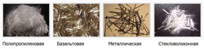 Виды фибры в стяжку