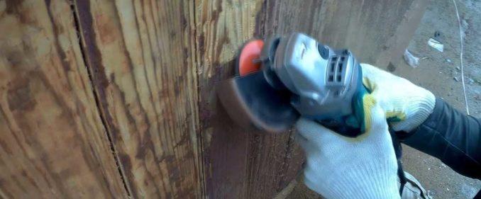 Как снять старую краску с дерева: с использованием болгарки и шлифовального диска