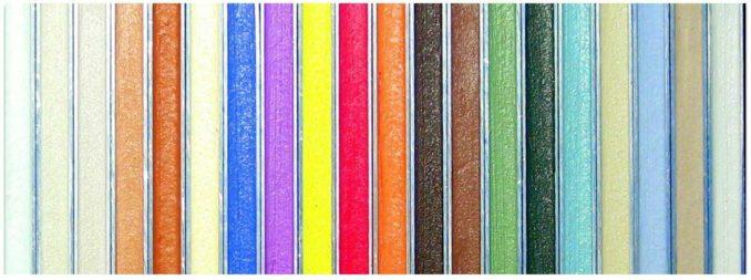 Это варианты цветов полимерной затирки для плитки