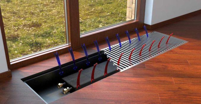 Как работает отопление в полу под окном