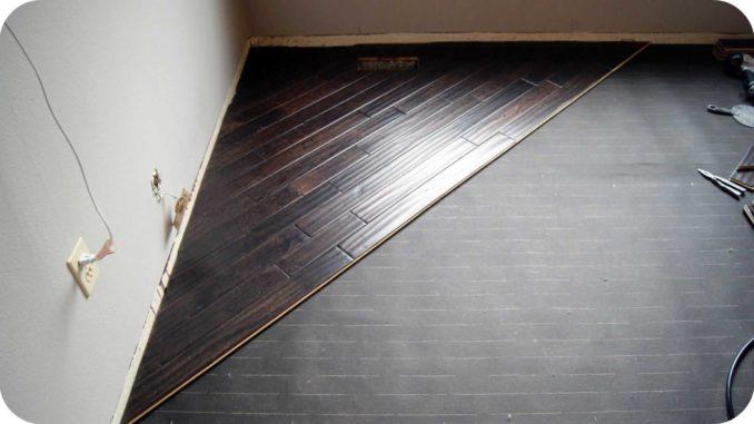 Диагональная укладка паркетной доски требует большого запаса материала