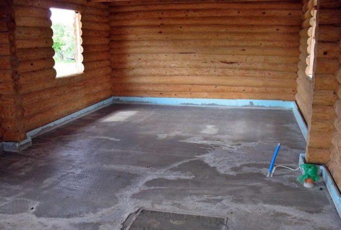 По бетонной плите кладут плитку