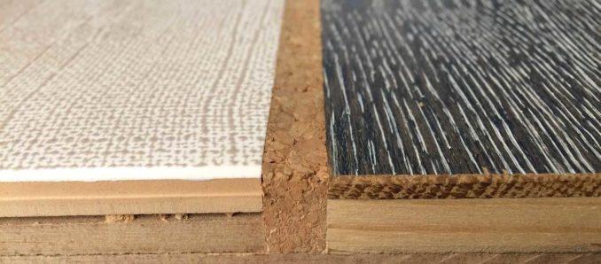 Пробковый компенсатор между плиткой и ламинатом - один из вариантов