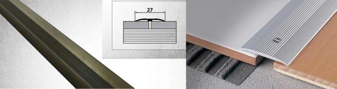 Простой порожек между плиткой и ламинатом - накладной
