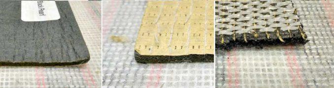 Подложки под ковролин могут быть из разных материалов с различными свойствами