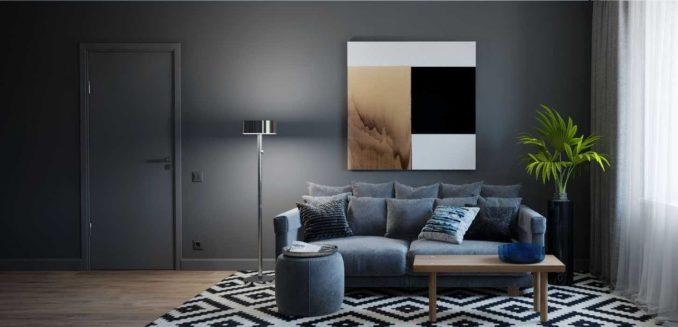 Современная тенденция - одинаковый цвет плинтуса и стен
