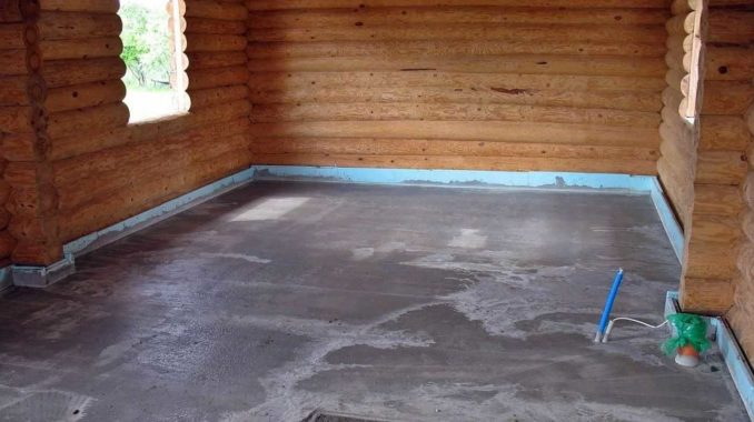 Залить бетонный пол в деревянном доме - хороший выбор под любой тип покрытия