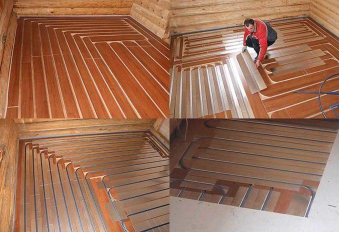 Так можно сделать теплый пол от отопления без бетона и стяжки