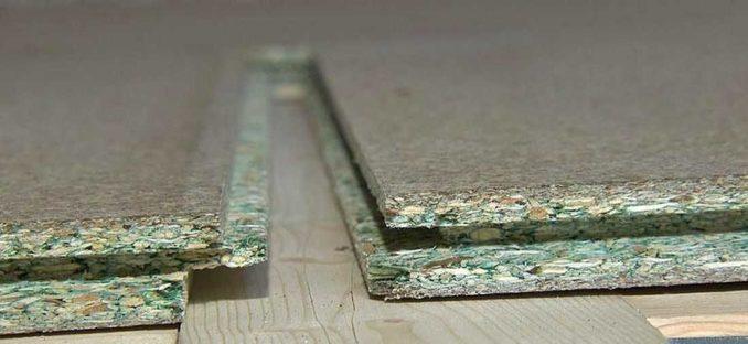Древесно-стружечная плита влагостойкая с пазо/гребневым соединением