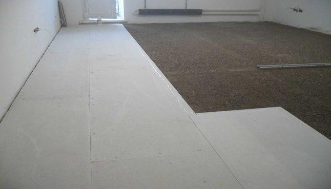 Чем утепляют бетонные полы в частном доме: керамзитовый песок, а сверху ГВЛ