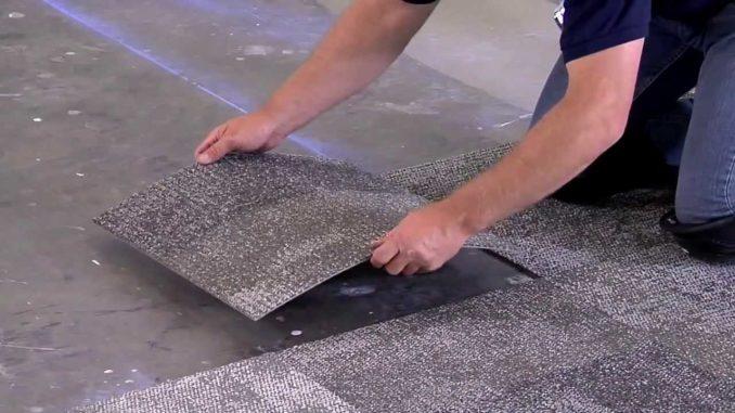Ковровая плитка проста в укладке, меньше отходов