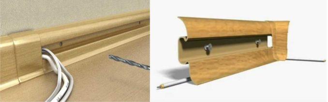 Как укладывать кабель в плинтусные кабель-каналы