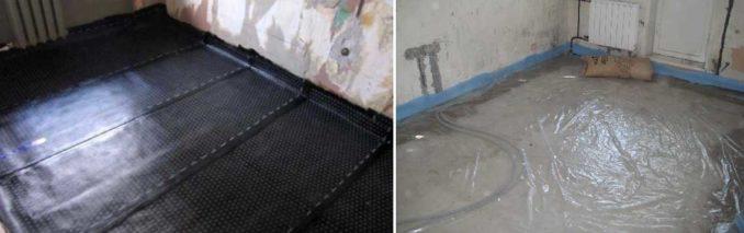 Гидроизоляция под стяжку пола в квартире: рулонная или пленочная