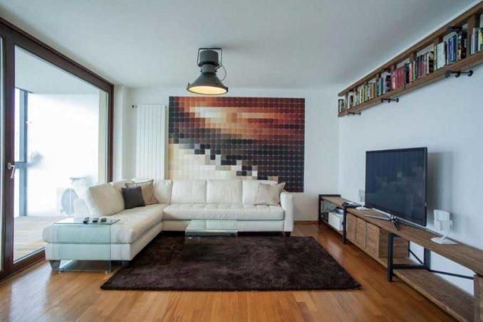 Велюровые ковры с ворсом средней длины солируют даже несмотря на вполне нейтральный цвет