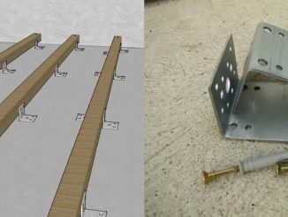 Крепление бруса к бетону уголками