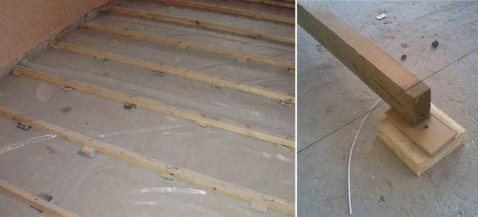 Установка лаг на бетонное основание: как это выглядит на практике
