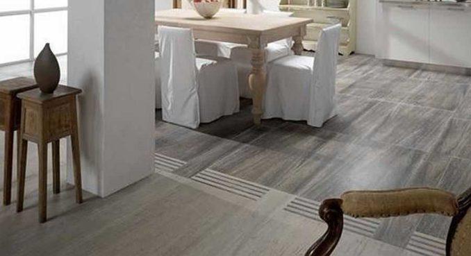Кухня гостиная плитка и ламинат могут сосуществовать