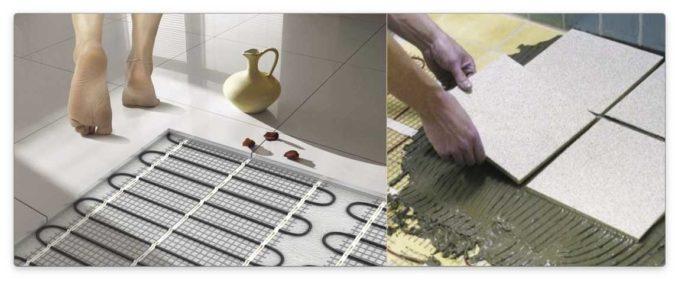 Один из самых эффективных материалов для укладки на теплый пол - керамическая плитка и керамогранит