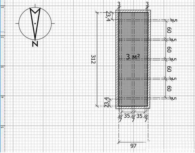 Обрешетка пола на балконе: лучше всего сделать план с точными размерами