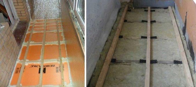 Варианты утепления пола на лоджии и балконе: ЭППС и минеральная вата