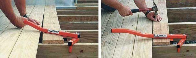 Bowrench инструмент для стягивания досок пола производится в США