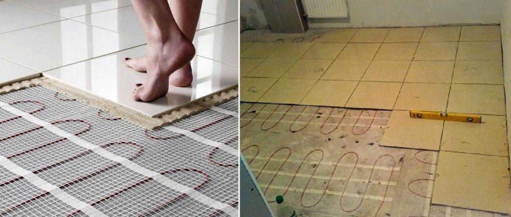Какой теплый пол лучше под плитку? Кабельный мат
