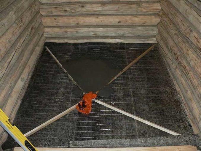 Стяжка в бане под плитку: по бетонному основанию
