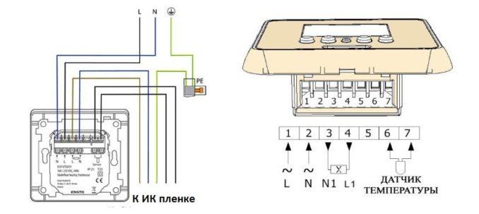 Как подключать терморегулятор к пленочному теплому полу