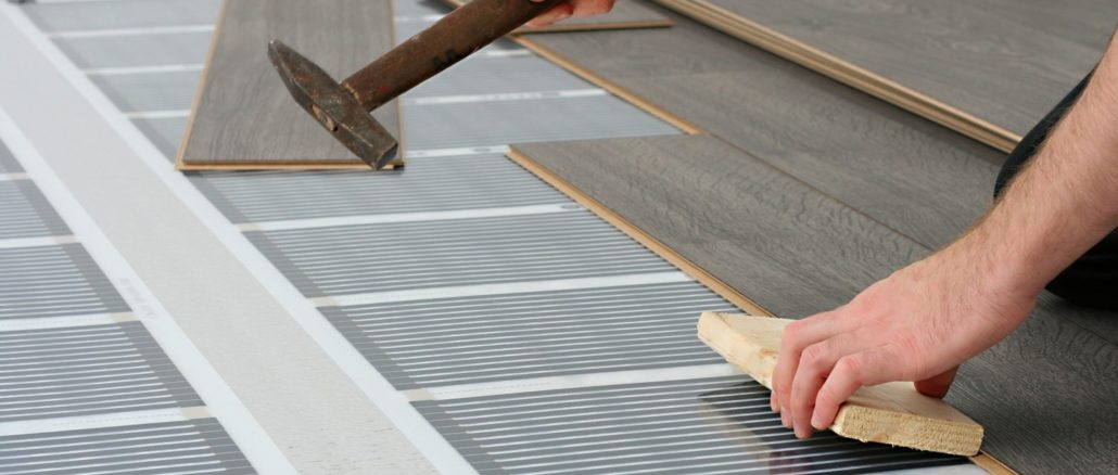 Пленочный теплый пол под ламинат - один из самых быстрых вариантов организации подогрева