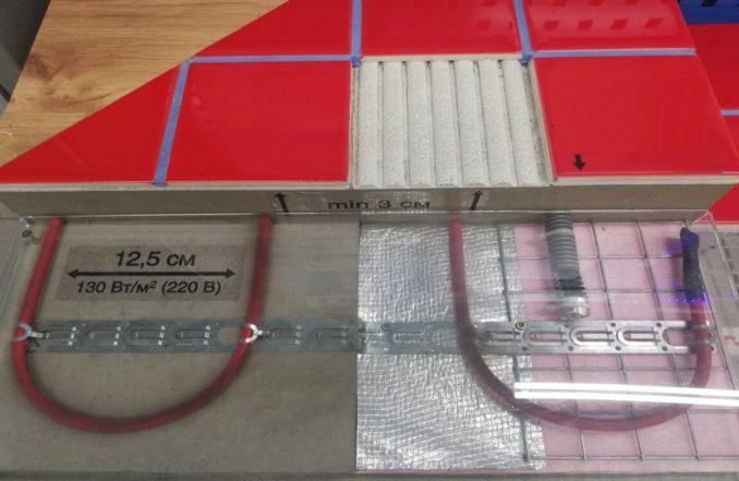 Укладка кабеля теплого пола в стяжку: минимальная толщина 3 см