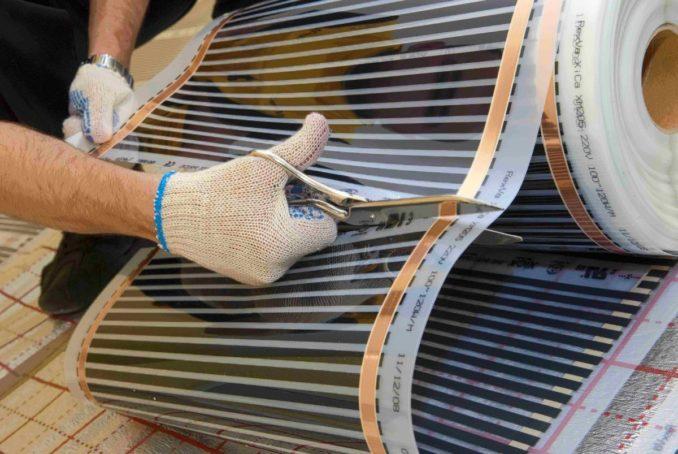 Правила укладки теплого пола из карбоновой пленки несложные