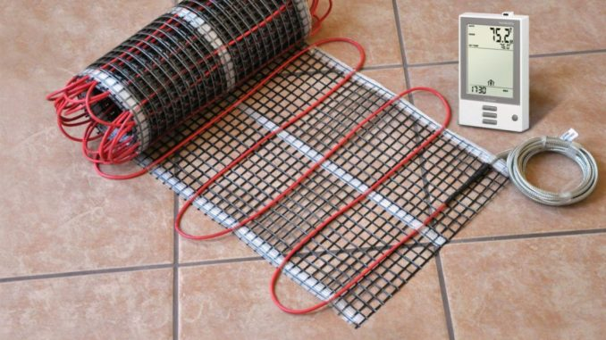 Укладка электрического теплого пола из кабельных матов - оптимальное решение под плиточный пол