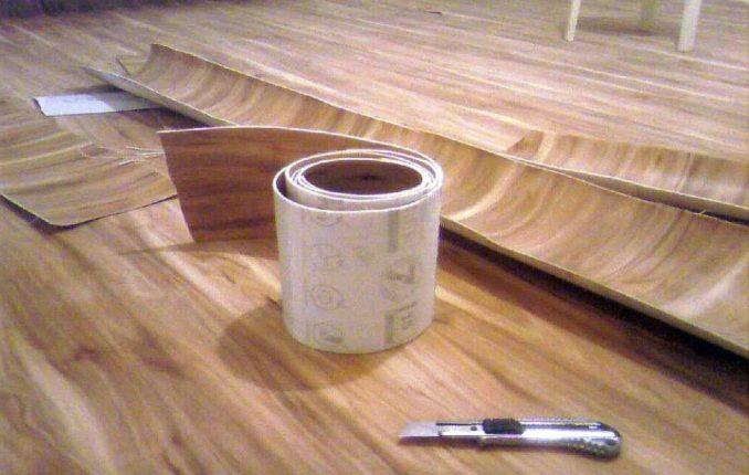Как укладывать линолеум на бетонный пол
