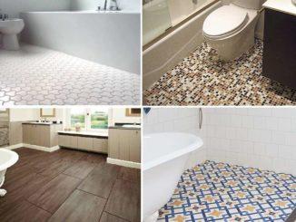 Пол в ванной из керамической плитки - самый распространенный вариант