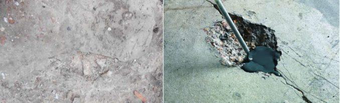 Cостав пола в ванной комнате на бетонном омновании