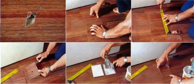 Чем заделать дырку в полу в линолеуме