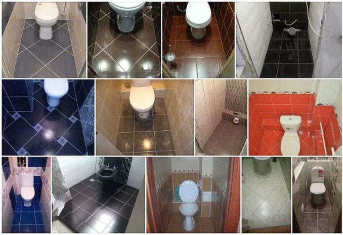 Укладка плитки в туалете: выбираем размер и способ раскладки